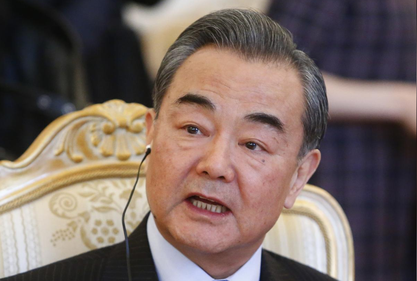 China's top diplomat State Councillor Wang Yi speaks during a meeting with Russia's Foreign Minister Sergei Lavrov in Moscow