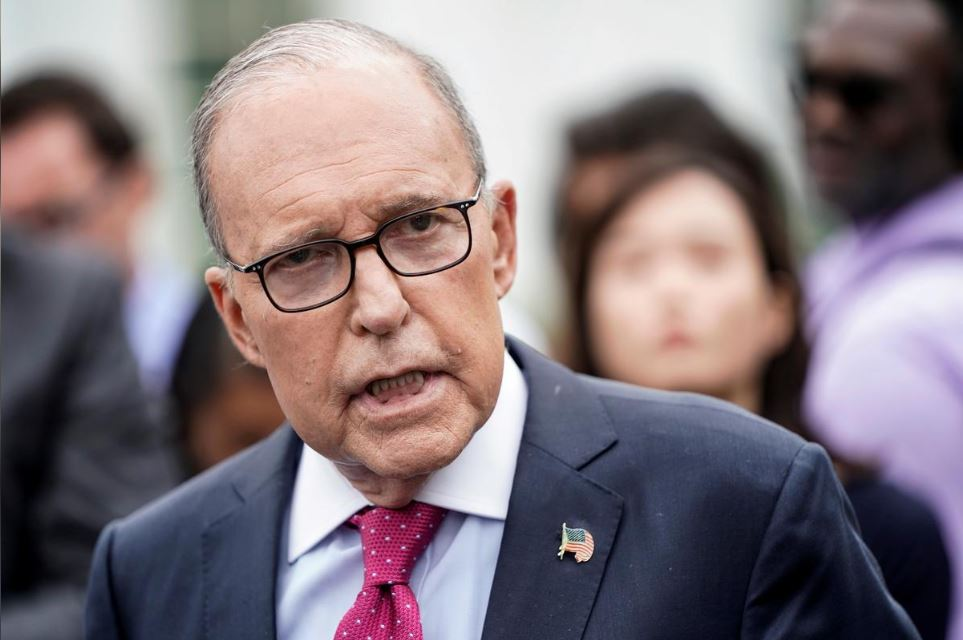 Director of the National Economic Council Larry Kudlow speaks to the media at the White House in Washington, U.S., September 6, 2019