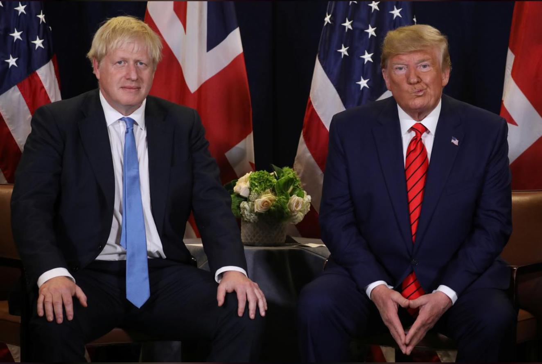 tổng thống mỹ Donald Trump và Boris Johnson