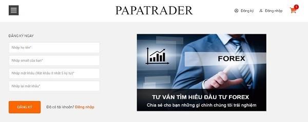 Đăng ký mail tại Papatrader