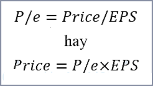Công thức tính P/E